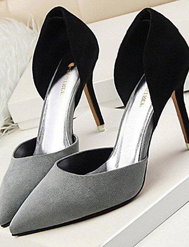 WSS 2016 Chaussures Femme-Décontracté-Noir / Rose / Rouge / Gris / Fuchsia-Talon Aiguille-Talons-Talons-Laine synthétique red-us7.5 / eu38 / uk5.5 / cn38