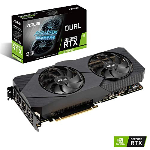 ASUS Dual GeForce RTX 2070 Super EVO 8GB GDDR6 - Tarjeta gráfica (Ventiladores Axial-Tech, Auto-Extreme, Estructura Reforzada, GPU Tweak II)