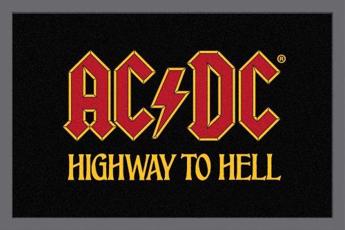 Empire Merchandising GmbH, 623904, Zerbino AC/DC, Highway to Hell, 60 x 40 cm, in polipropilene, colore: Nero