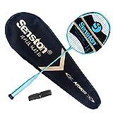 senston N80 Grafito Raqueta de Bádminton,Badminton Racket de Fibra Carbono,Incluyendo bádminton Bolsa,Dorado/Rosa/Blanco/Negro/Azul/Plata/Púrpura/Rojo/Verde