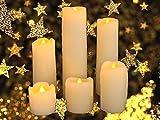 Express Trading ® - LED Kerzen aus echtem Wachs mit Tropfen Effekt 6 Stück Batteriebetrieben