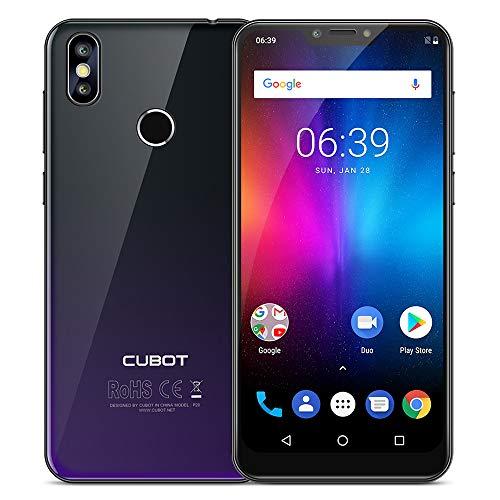 Cubot P20 Smartphone 4G, 6.18 Pollici Android 8.0 Telefono, MT6750T 1.5GHz Octa Core, 4GB RAM 64GB ROM, Notch IPS Schermo Dual Sim Fingerprint, 20MP+2MP+13MP Camera, Wifi GPS Cellulare-Nero d'aurora