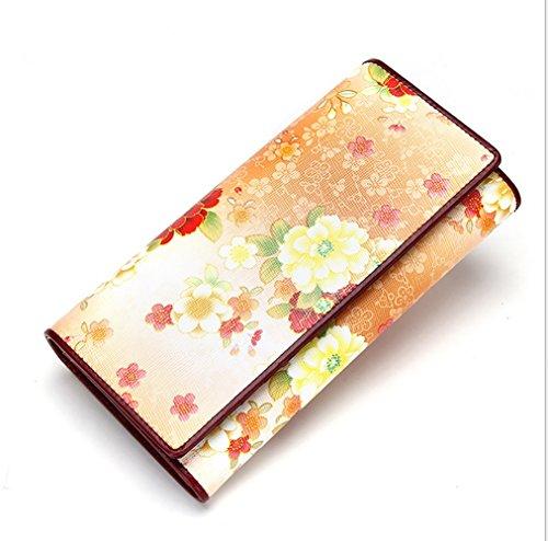 T-FBW Brieftasche für Damen Damen Geldbörse PU bedruckte Clutches Europa und Amerika Brieftasche lange Rabatte Kupplung (Design : A2) (Verschluss-kupplung Geldbörse)