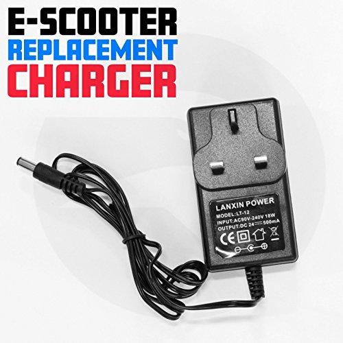 Ladegerät für Elektro-Scooter, passend für die meisten Modelle, 24 V, AC 230 V 50 HZ, DC 24v, Chr