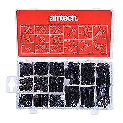 Amtech APT0782-APE Nut & Bolt Sets, Transparent, One Size, Set of 240 Pieces