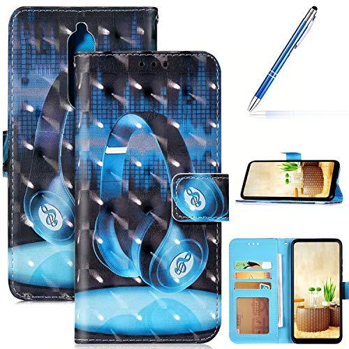 Robinsoni Custodia Compatibile con Nokia 5.1 Case Portafoglio Nokia 5.1 Cover Libro Case Pelle PU Antiurto Case Wallet Flip Caso Taccuino Cover Libretto Custodia 3D Cartone Animato Case Foglio Cover