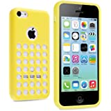 vau iPhone 5C Case - punched yellow - TPU Silikon-Case, Tasche für Apple iPhone 5C