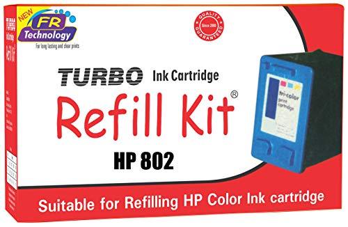 Turbo Ink Cartridge Refill kit for HP 802 multi colour