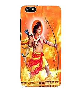 ColourCraft Lord Rama Design Back Case Cover for HUAWEI HONOR 4X