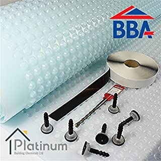 PLATON P8 BASEMENT CELLAR CAVITY DRAIN WATERPROOF TANKING MEMBRANE KIT 2M x 10M ( 20m2 ) - BBA CERTIFIED PRODUCT (DELIVERY TO MAINLAND UK ONLY)