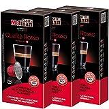 Caffè Molinari Espresso Kapseln ROSSO, geeignet für Nespresso-Maschinen, 3 x 10 Stück, 150 g
