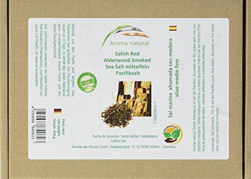 Aroma natural Hickory-Rauchsalz, Salish Alderwood Pazifik-Salz 450 g mittelfein, 1er Pack (1 x 450...