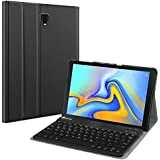 ABOUTTHEFIT Keyboard Case for Samsung Galaxy Tab A 10.5 2018 Model SM-T590/T595/T597, Slim Shell Lightweight Stand Cover with Detachable Wireless Bluetooth Keyboard, Black
