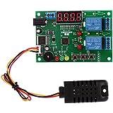 KKmoon DC 5V ~ 24V Módulo de Relé Digital de Temperatura Inteligente y Tablero de Control Controlador de Humedad con Indicador LED Función de Alarma