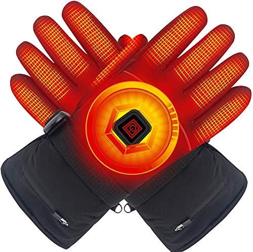 Svpro Winter elektrische beheizte Handschuhe mit Lithium-Ionen-Akku, wasserdichte isolierte Heizhandschuhe, thermische Arthritische Handschuhe für Männer und Frauen