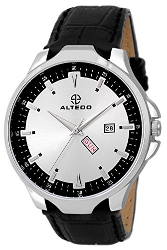 Altedo Analog Day Date Silver Dial Premium Watch for Men