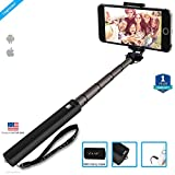 #7: ZAAP NUSTAR4 Extendable Premium ALUMINIUM Monopod Selfie Stick (Battery-Free) with In-built Remote Shutter for iPhone, Android, Other Smartphones.