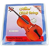 Alice-Set corde per violoncello, colore: argento Nickel Wound-Corde per violoncello 4/4