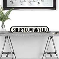 Weird Or Wonderful SHELBY COMPANY LTD Peaky Blinders Gang Birmingham TV Show Retro Vintage Gift Road Street Sign Black & White