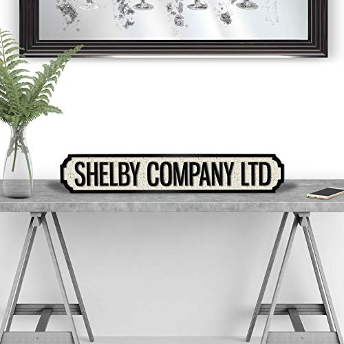 Weird Or Wonderful Shelby Company LTD Peaky Blinders Gang Birmingham TV-Show, Retro-Geschenk, Straßenschild, Schwarz/Weiß - Retro-blind