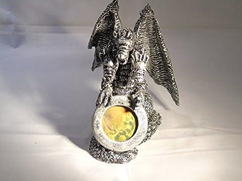 3d holograph hologram on hydra dragon ornament, image shows baby dragon hologram very rare real photo hologram ,rare