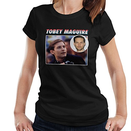 Tobey Maguire Tribute Montage Women's T-Shirt Black