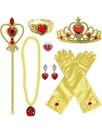 c010afb670d7 Tacobear Princesa Disfraz Accesorios Niña Princesa Collar Corona Guantes  Pendiente Varita Mágica Pulsera Anillo Princesa Joyas