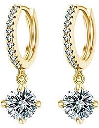 Shining Diva Fashion 18K Gold Plated Fancy Party Wear Austrian Crystal Bali Earrings for Women & Girls