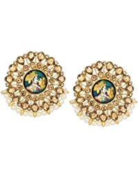 The Luxor Traditonal Gold Plated Stud Temple Jewellery Earring For Women And Girls -ER-1826