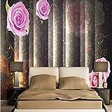 Wmbz Moderne Tapeten Für Wände 3D Wandbilder Hellgraue Streifen Wandpapiere Für Wohnzimmer Home Decor Blumen Marmor Fototapeten-350X250Cm