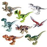 BeneGlow 8 Sets Lifelike Multicolored 3D Jigsaw Puzzles Mini Dinosaur Building Blocks for Children