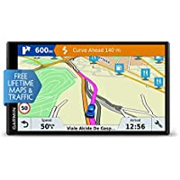 Garmin DriveSmart 61LMT-S 6.95 Inch Sat Nav with Lifetime Map Updates for UK, Ireland and Full Europe, Free Live Traffic and Built-In Wi-Fi,010-01681-12