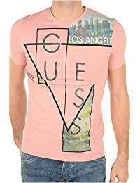 Tee-shirt Guess Straight Out Rose