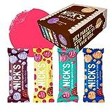NICKS Sport Mix, con assortiti Protein Sport Crunch Wafer Barrette proteiche al cioccolato, varianti di gusto, senza zucchero aggiunto, senza glutine 9 x 40 g