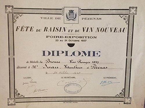 Pézenas - Fête du raisin et du vin nouveau à Pézenas ( M. Suau, viticulteur ) - Foire exposition Octobre 1937