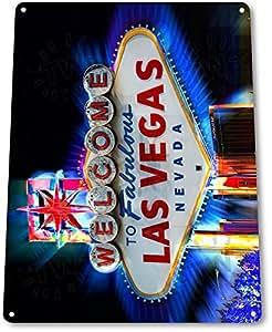 "Panneau ""Welcome to Las Vegas Casino Hotel Decor Metal Wall Art Nevada A701"