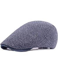 Chengzuoqing Boinas de Hombre Unisex-Adulto CottonTweed Ivy Newsboy Cabbie  Gatsby Golf Beret Gorra de conducción Sombrero… 0e4de4c9904