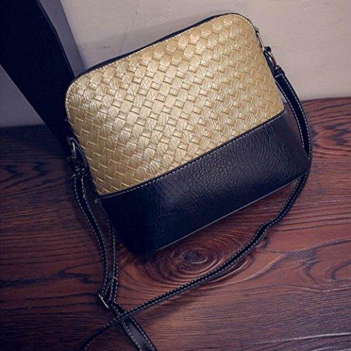 Le donne adattano il retro tessuto spalla della borsa Grande borsa Tote signore,Fami oro