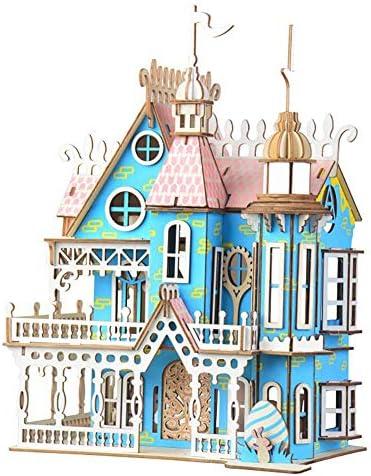 JLCP 3D Puzzle en Bois, Dream Villa Bricolage bâtiHommes t Kit Craft Puzzle découpé au Laser mécanique modèle Auto-Assemblage Jouet éducatif Cadeaux Faits Main | Good Design