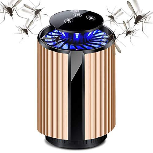 USB Moskito-Mörder-Lampe, Fotokatalysator-UVlicht-Touch Screen elektrischer Fliegen-Wanze Zapper Ultraschallmäuseabwehrmittel,Gold