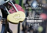 Glückwunschkarte zur Hochzeit Verlobung * In Liebe verbunden * Schloß mit Herzen