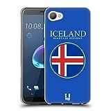Head Case Designs Isländische Fahne Fahnen Flicken Soft Gel Hülle für HTC Desire 12