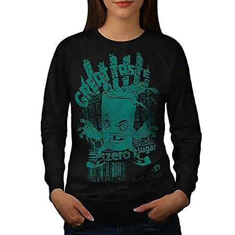 Great Taste No Sugar Fizzy Drink Women NEW Black XL Sweatshirt | Wellcoda