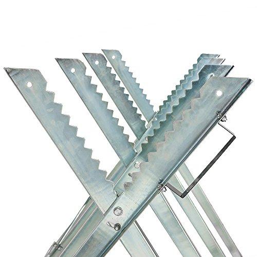 TecTake Holzsägebock für Kettensäge - diverse Modelle - (Silber /