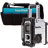 Makita DMR104W Job Site Radio Stereo with DAB and FM With Blue Tote Tool Bag