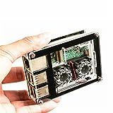 LaDicha 3-In-1 9 Schichten Acrylgehäuse + Dual Fan + Kupfer Kühlkörper Kit Für Raspberry Pi 3 Modell B