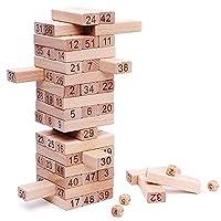 NimNik Classic Tumbling Towers Family Fun Educational Games for Kids by 54 Pcs