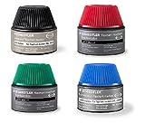 Staedtler 488 56 Lumocolor flipchart marker 4x Nachfüllstation für 356/356 B, 15-20x Nachfüllen, schwarz, blau, rot und grün (Sortiert 4 Farben)
