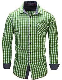 2016 männer Mode Lässig Langärmelige Gedruckt hemd Slim Fit