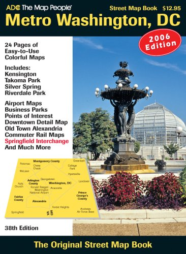 ADC the Map People Washington D.C.: Street Map Book (Washington Dc Street Map)
